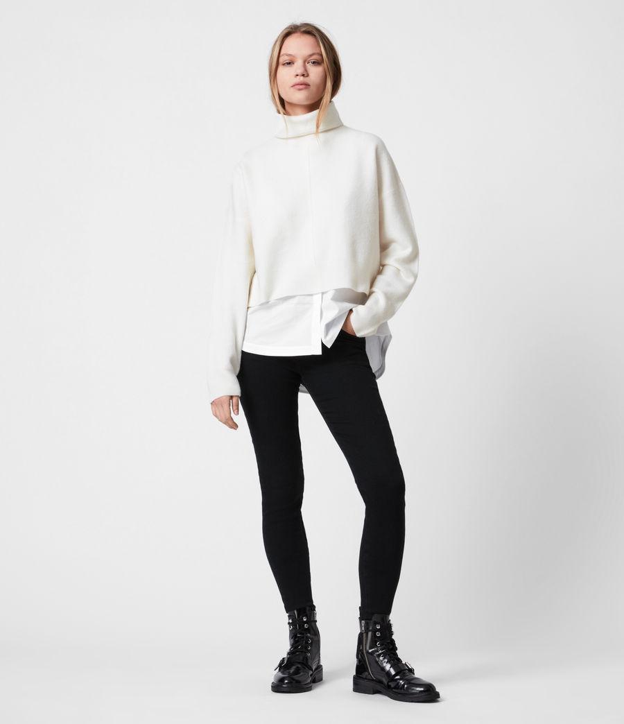 Womens Lydi Shirt Sweater (cloud_white) - Image 1
