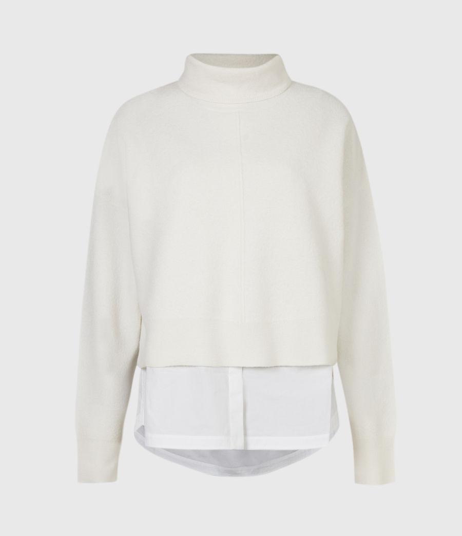 Womens Lydi Shirt Sweater (cloud_white) - Image 2