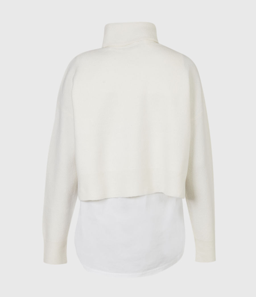 Women's Lydi Shirt Jumper (cloud_white) - Image 3