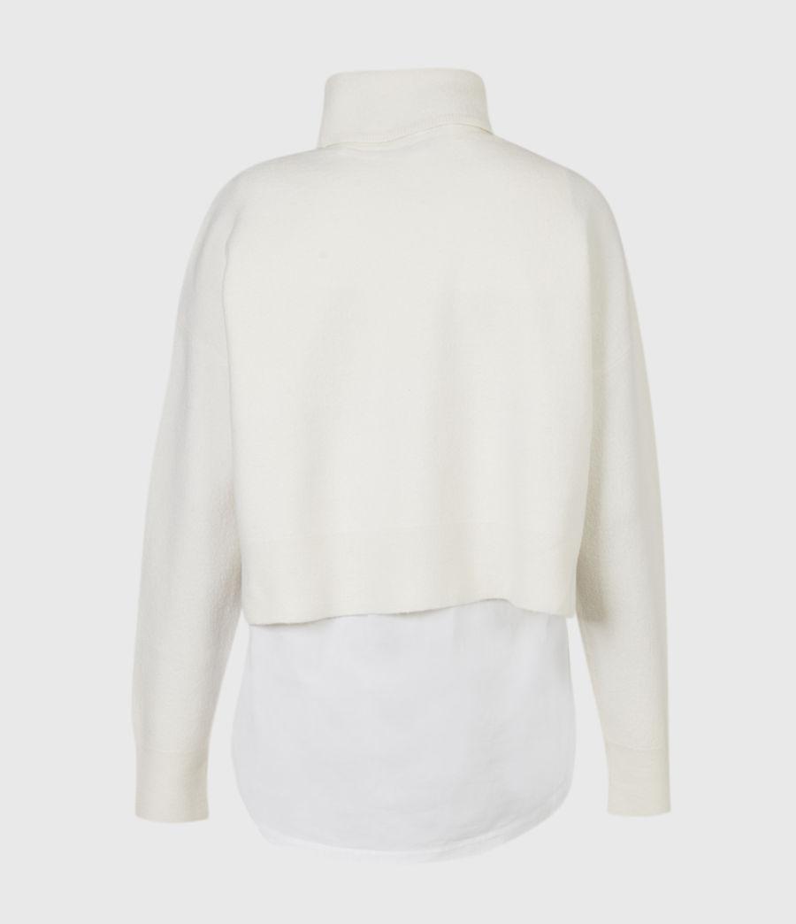 Womens Lydi Shirt Sweater (cloud_white) - Image 3