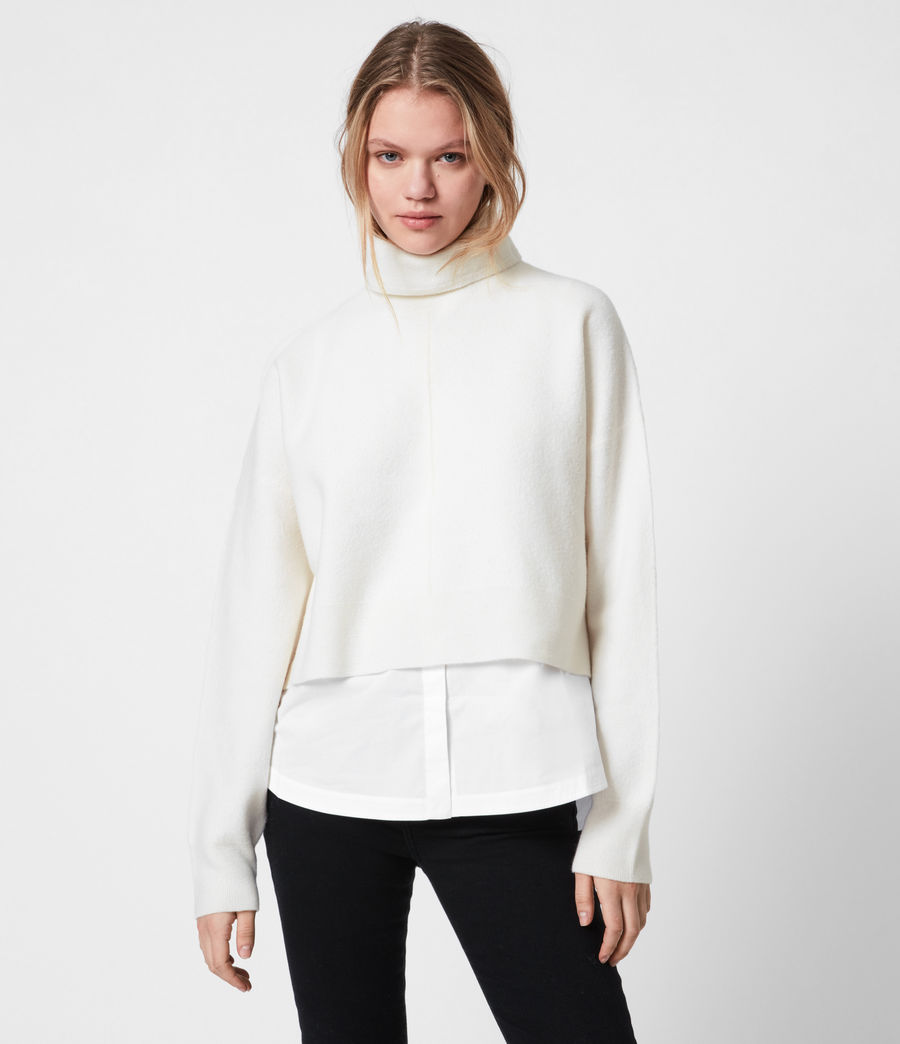 Womens Lydi Shirt Sweater (cloud_white) - Image 4
