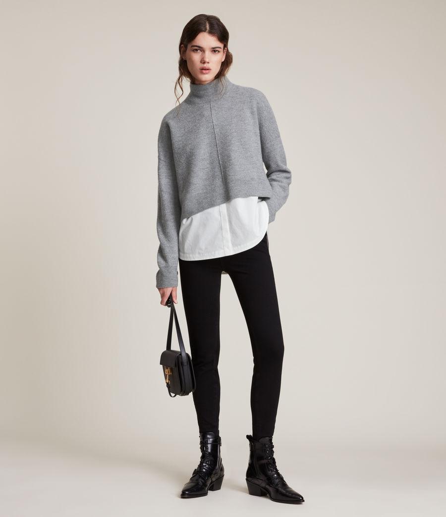 Womens Lydi Shirt Jumper (grey_marl_white) - Image 3