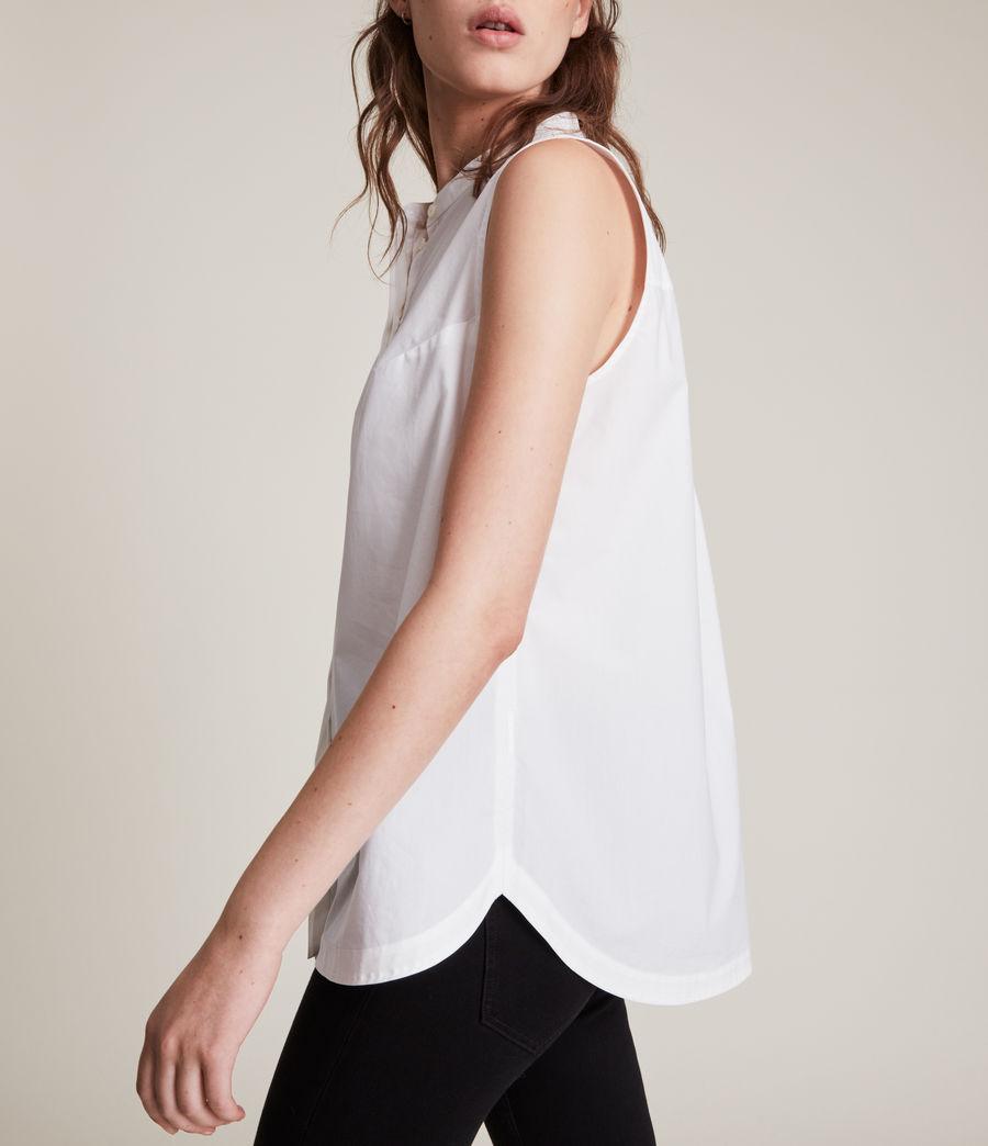 Womens Lydi Shirt Jumper (grey_marl_white) - Image 4