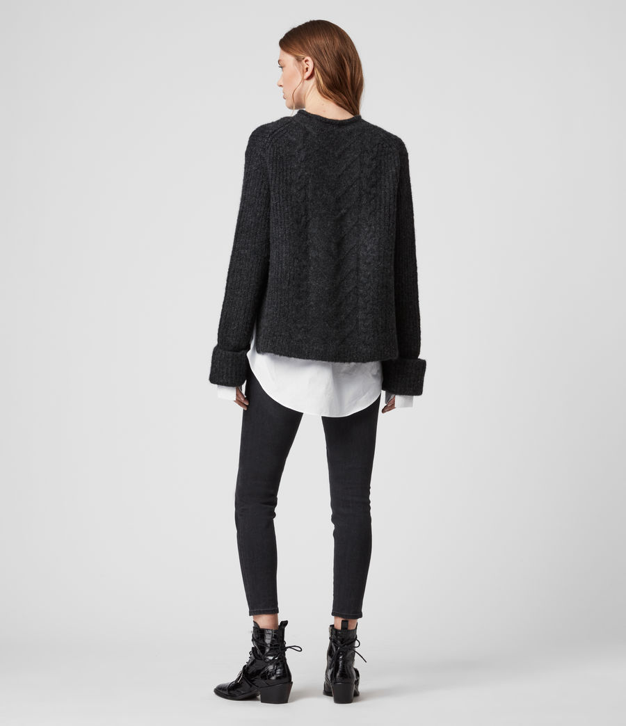 Womens Kalk Sweater (cinder_black_marl) - Image 5