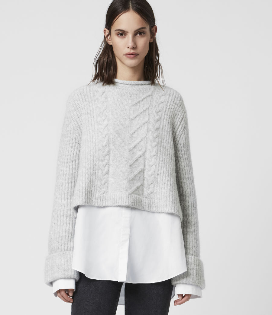 Womens Kalk Sweater (light_grey_marl) - Image 3