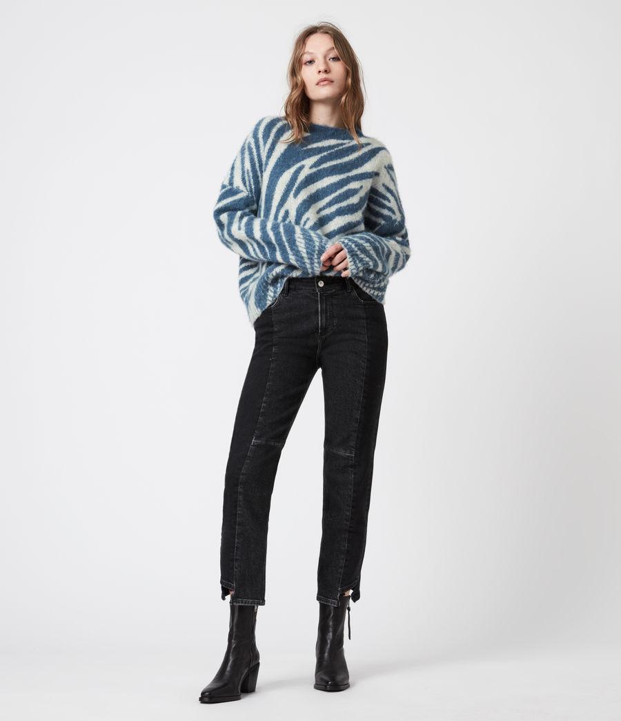 Womens Pina Tiger Sweater (cream_pale_blue) - Image 6