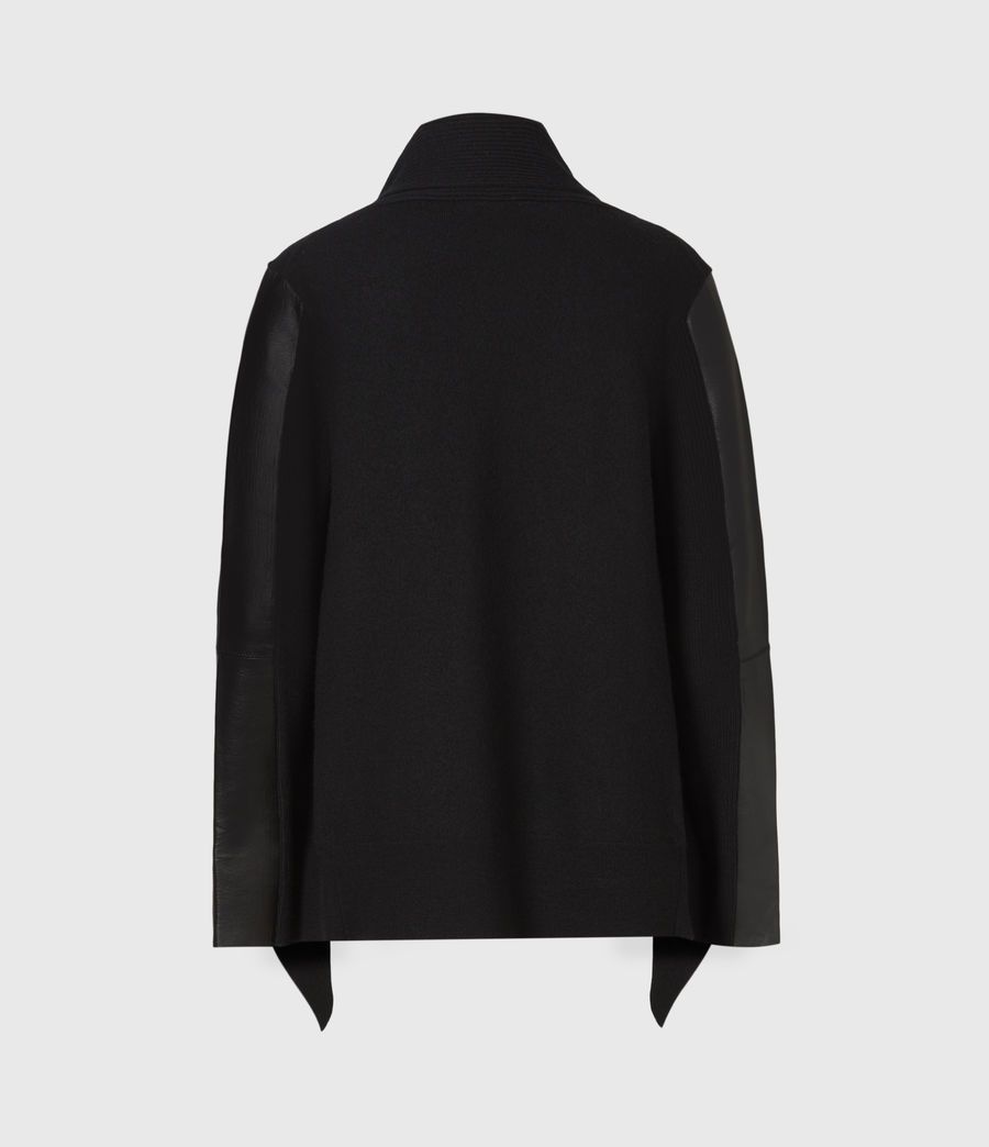 Womens Lucia Merino Wool Cardigan (black) - Image 3
