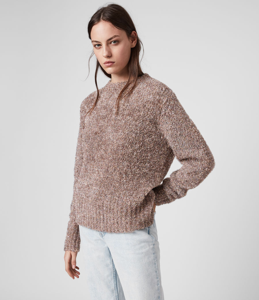Womens Tinsel Sweater (pink_multi) - Image 4