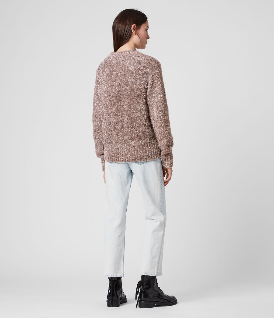 Womens Tinsel Sweater (pink_multi) - Image 5