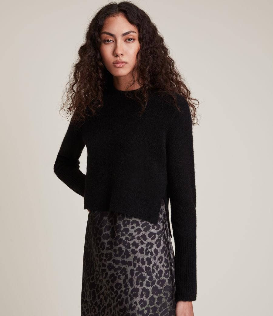 Womens Wick Crew Sweater (black) - Image 2