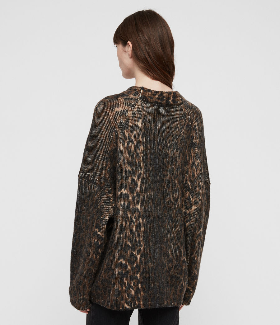 Womens Leopard Cardigan (leopard_brown) - Image 6