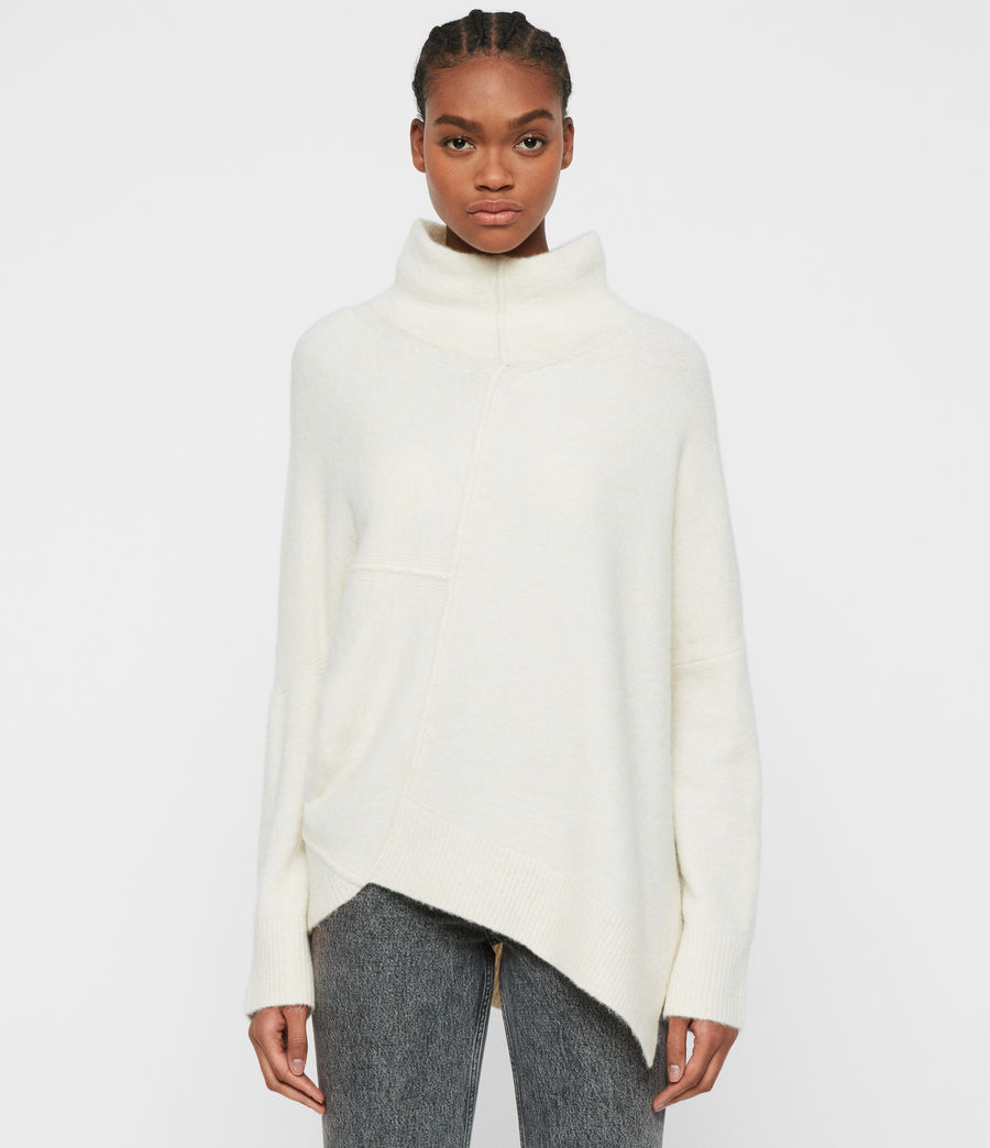 Women's Lock Roll Neck Jumper (alabaster_white) - Image 1