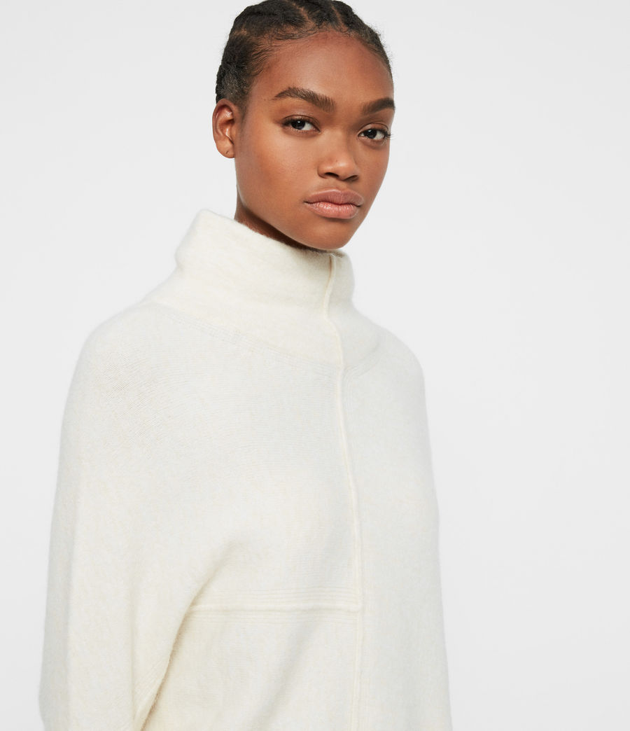 Women's Lock Roll Neck Jumper (alabaster_white) - Image 2