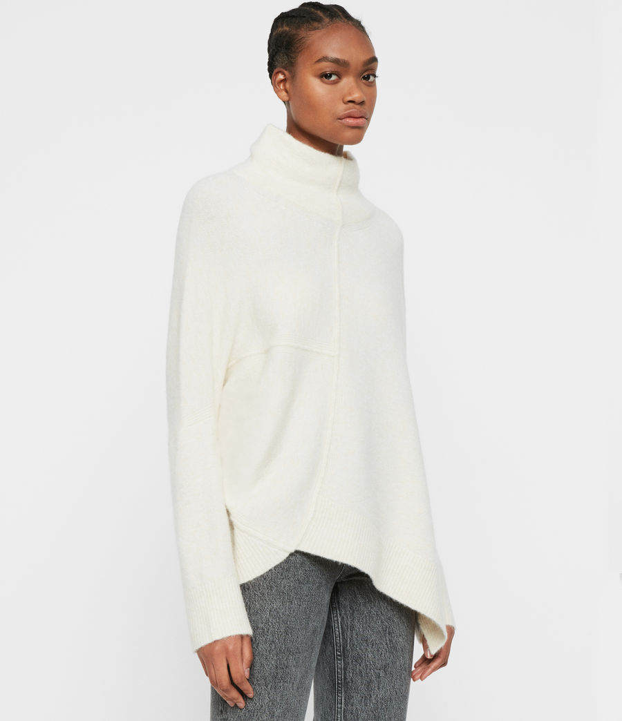 Women's Lock Roll Neck Jumper (alabaster_white) - Image 4