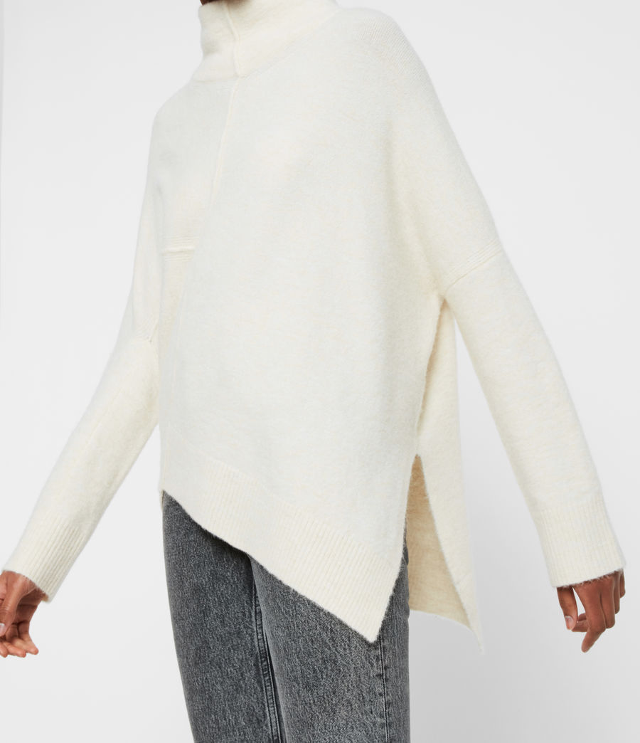 Women's Lock Roll Neck Jumper (alabaster_white) - Image 5