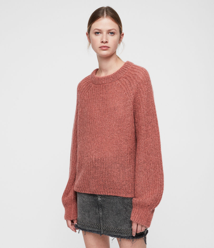 Womens Renne Short Sweater (coral_twist) - Image 3