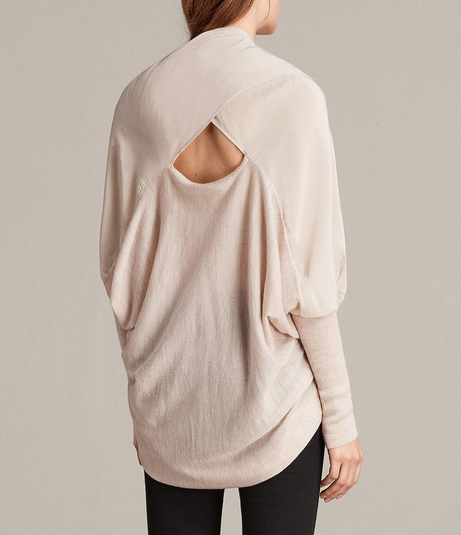 Womens Silk Itat Shrug Cardigan (quartz_pink_marl) - Image 3