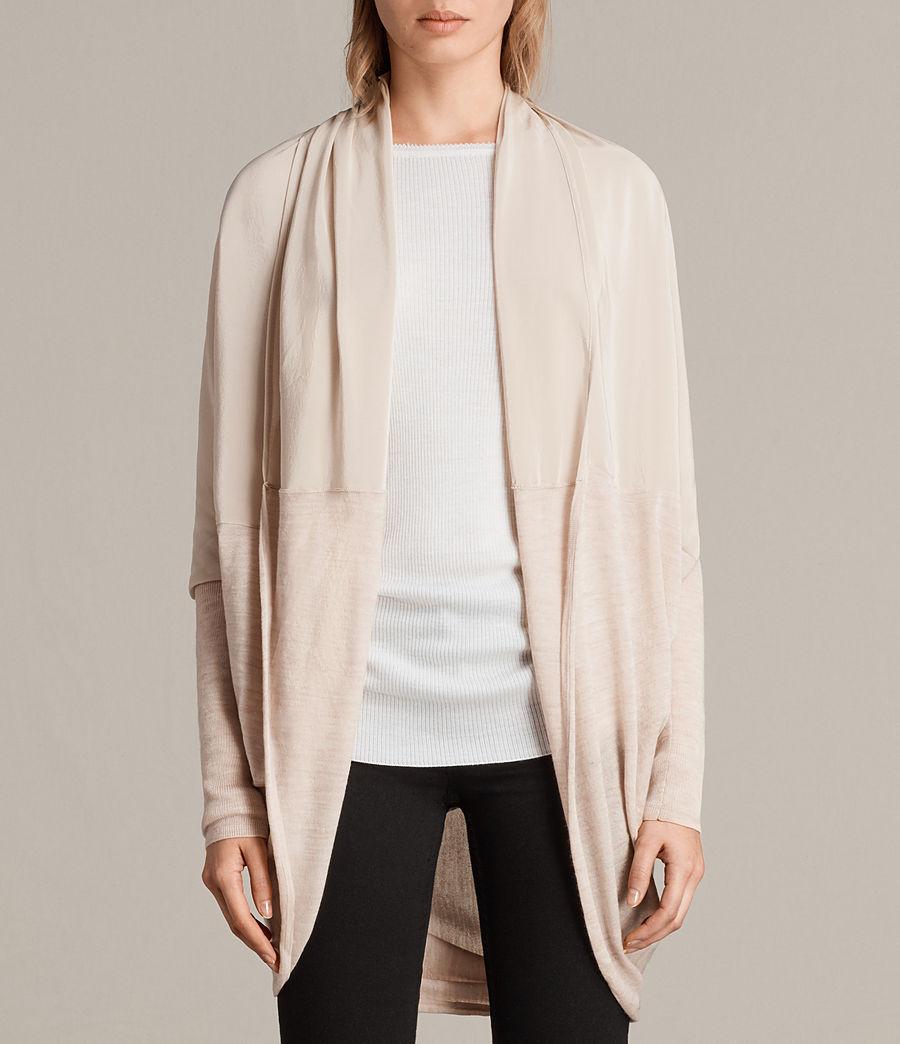 Womens Silk Itat Shrug Cardigan (quartz_pink_marl) - Image 4