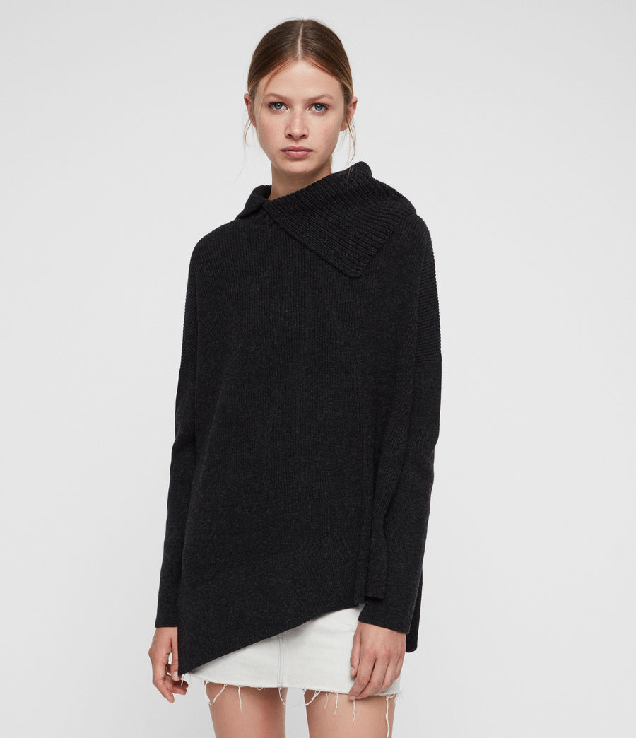 Women's Hettie Jumper (cinder_black_marl) - Image 1