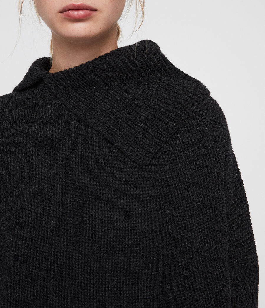Women's Hettie Jumper (cinder_black_marl) - Image 2