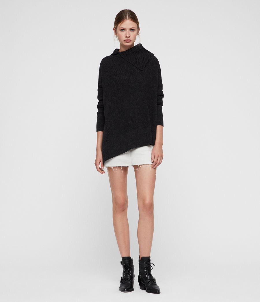 Women's Hettie Jumper (cinder_black_marl) - Image 3