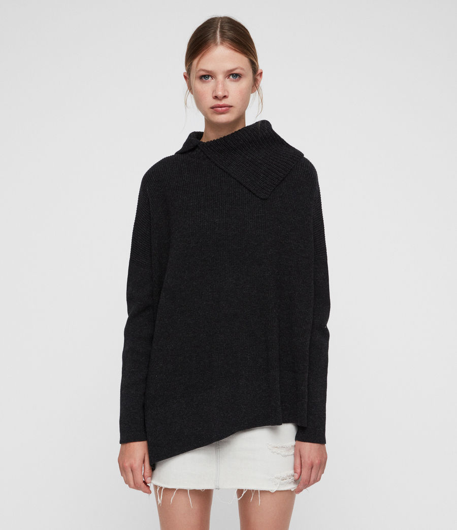 Women's Hettie Jumper (cinder_black_marl) - Image 5