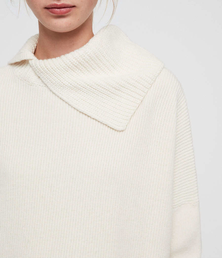 Womens Hettie Sweater (chalk_white) - Image 2