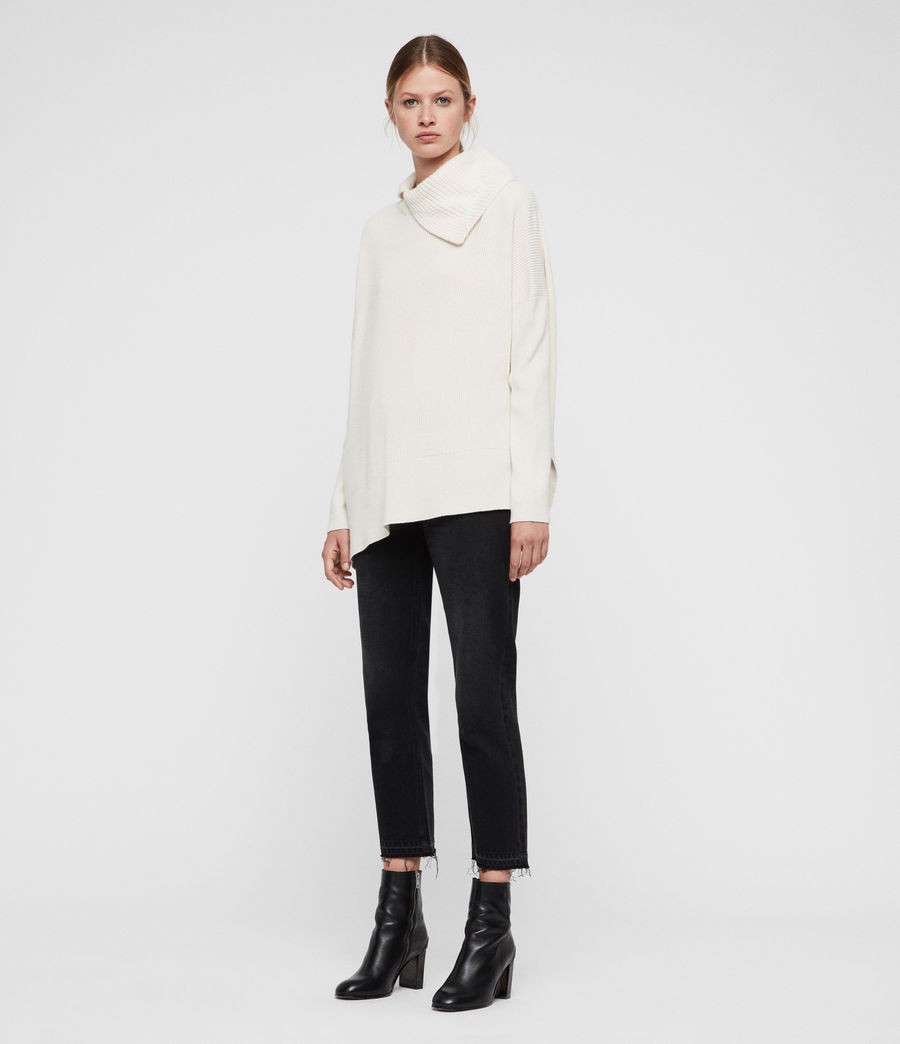 Womens Hettie Sweater (chalk_white) - Image 5