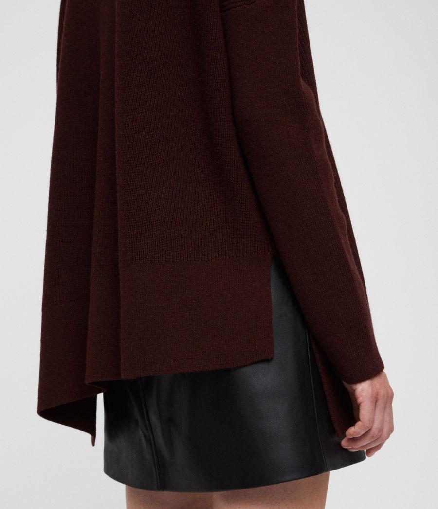Damen Hettie Pullover (dark_rust_red) - Image 2
