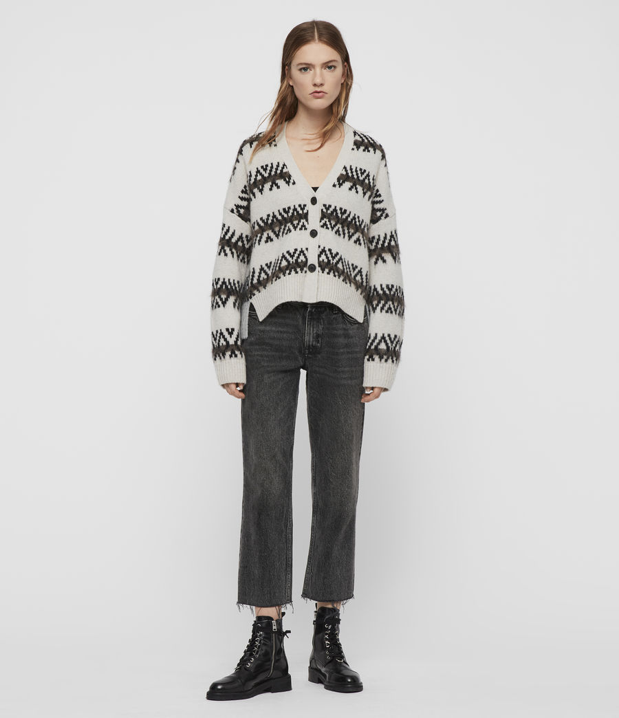 Women's Catalina Cardigan (ecru_silver_grey) - Image 3