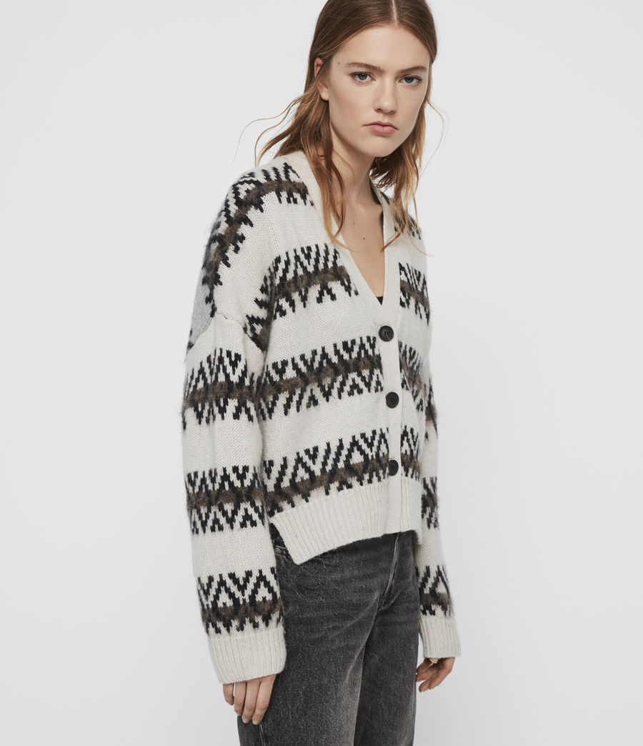 Women's Catalina Cardigan (ecru_silver_grey) - Image 4