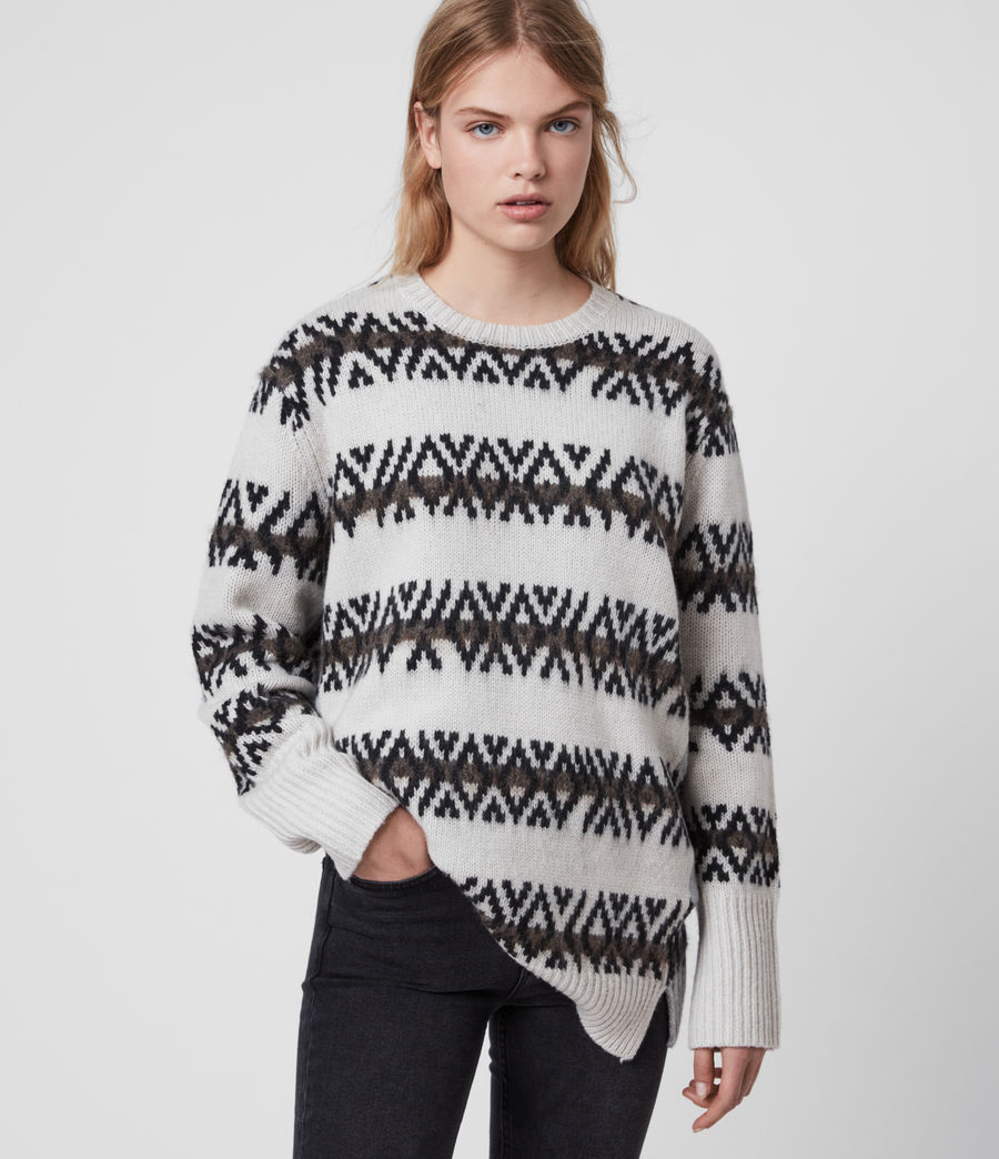 Damen Catalina Jumper (ecru_silver_grey) - Image 1
