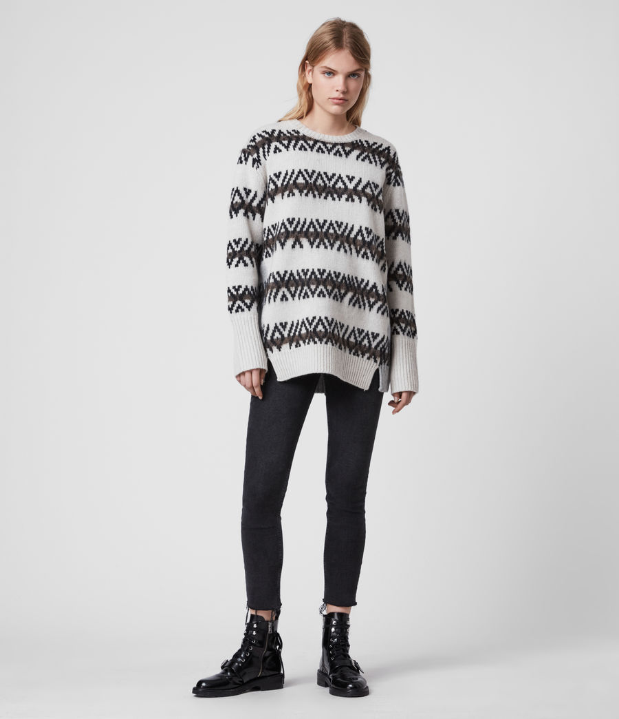 Damen Catalina Jumper (ecru_silver_grey) - Image 3