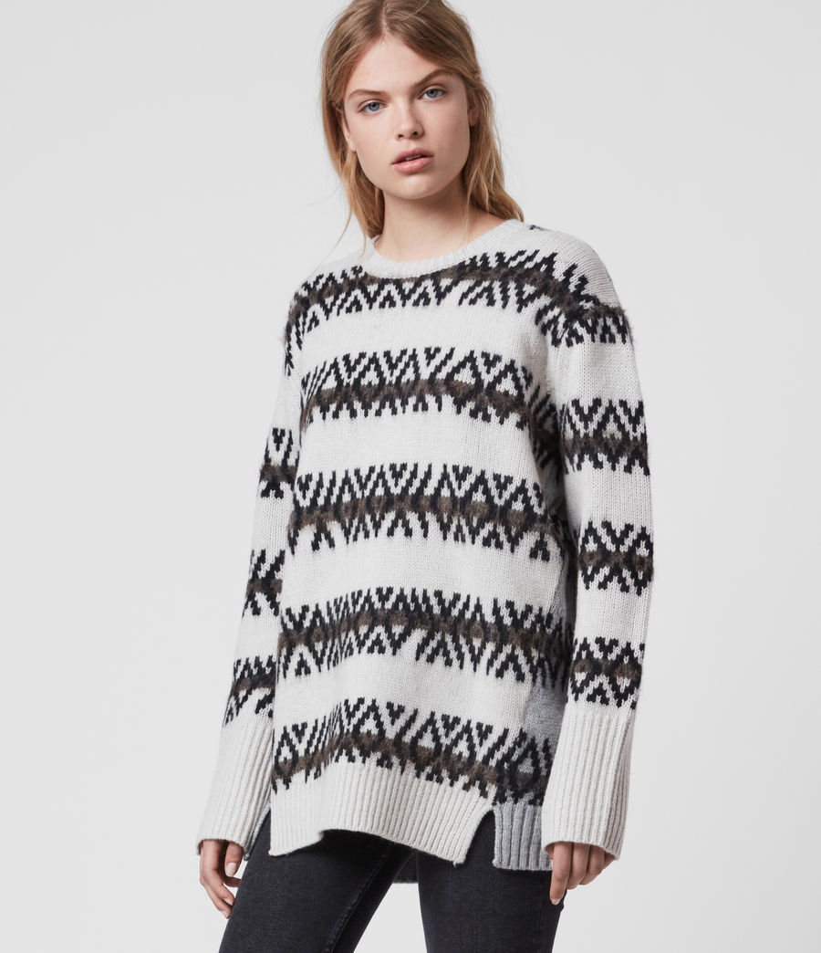 Damen Catalina Jumper (ecru_silver_grey) - Image 5