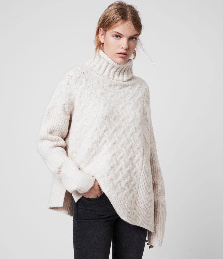 Womens Liliya Sweater (dune_white) - Image 1