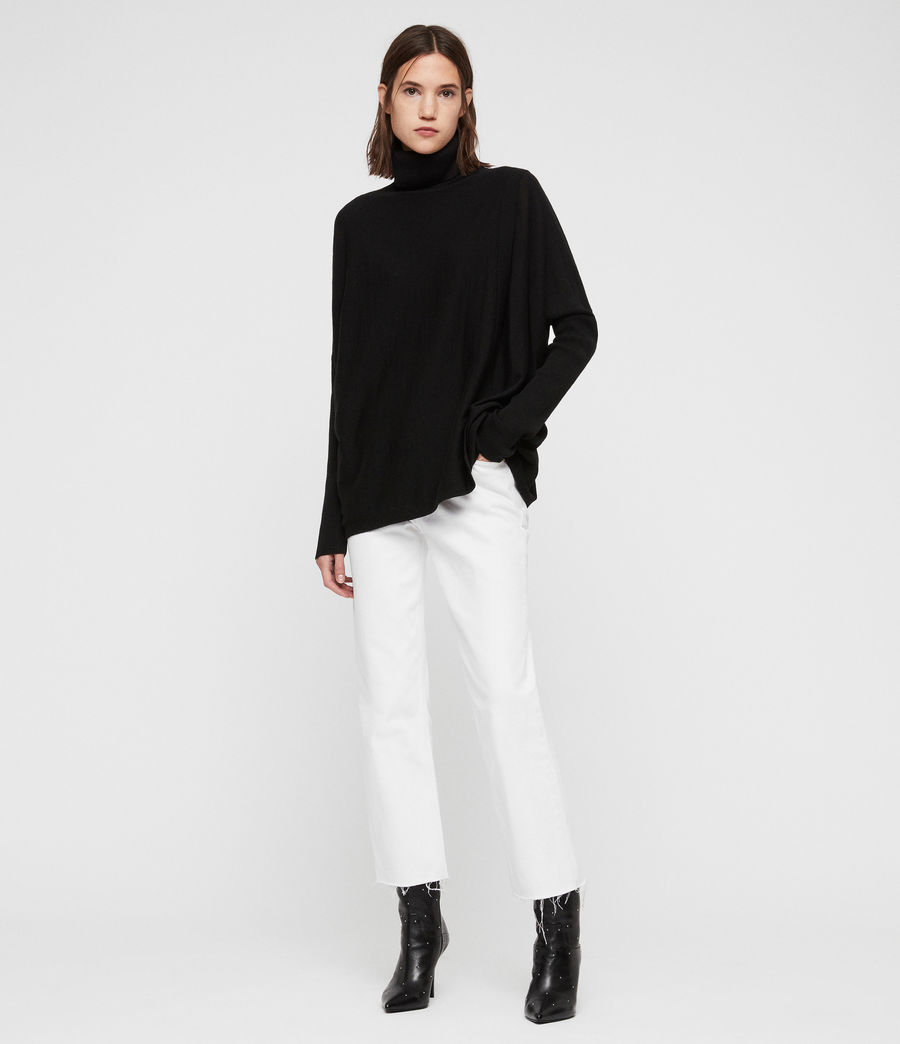 Womens Koko Wrap Sweater (black) - Image 1