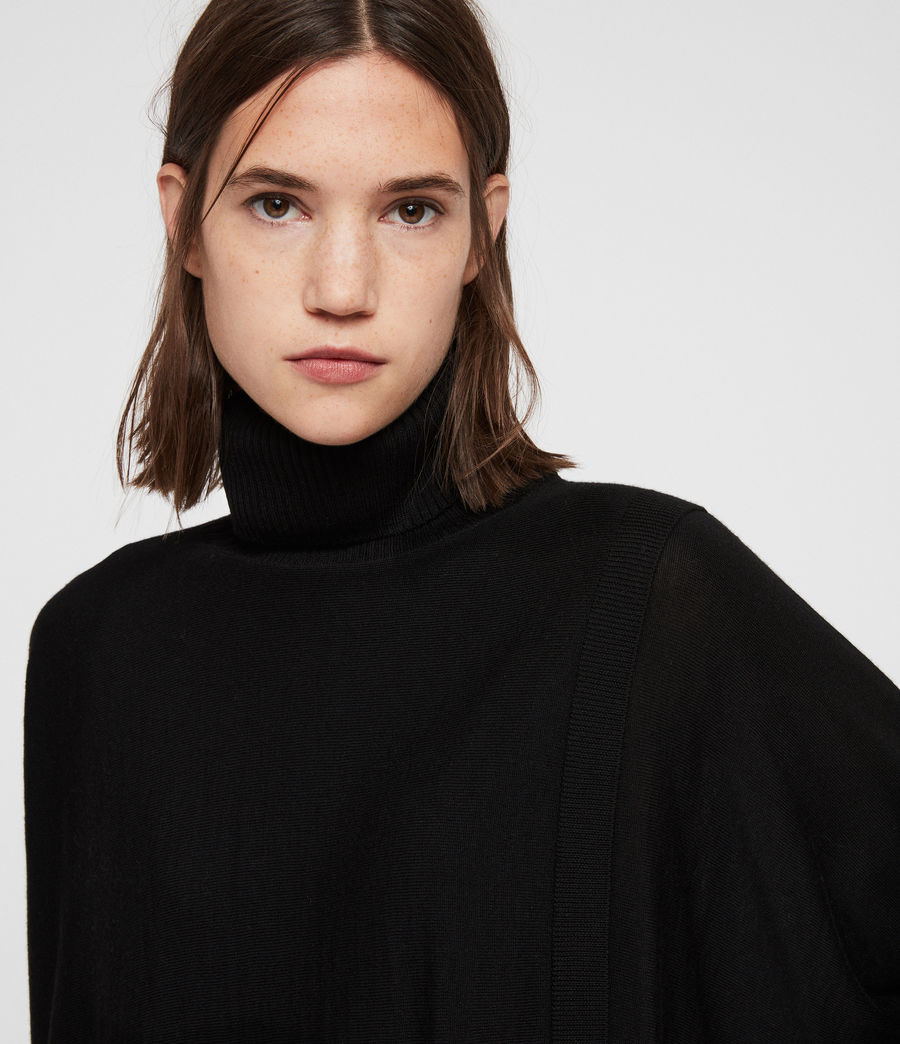 Womens Koko Wrap Sweater (black) - Image 2