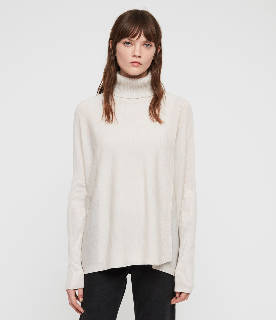 Womens Koko Wrap Sweater (porcelain_marl) - Image 3