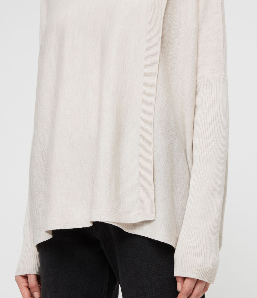 Womens Koko Wrap Sweater (porcelain_marl) - Image 4