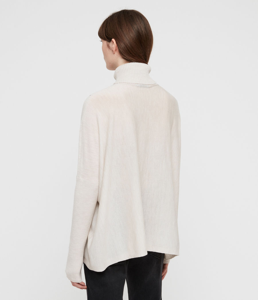 Womens Koko Wrap Sweater (porcelain_marl) - Image 5
