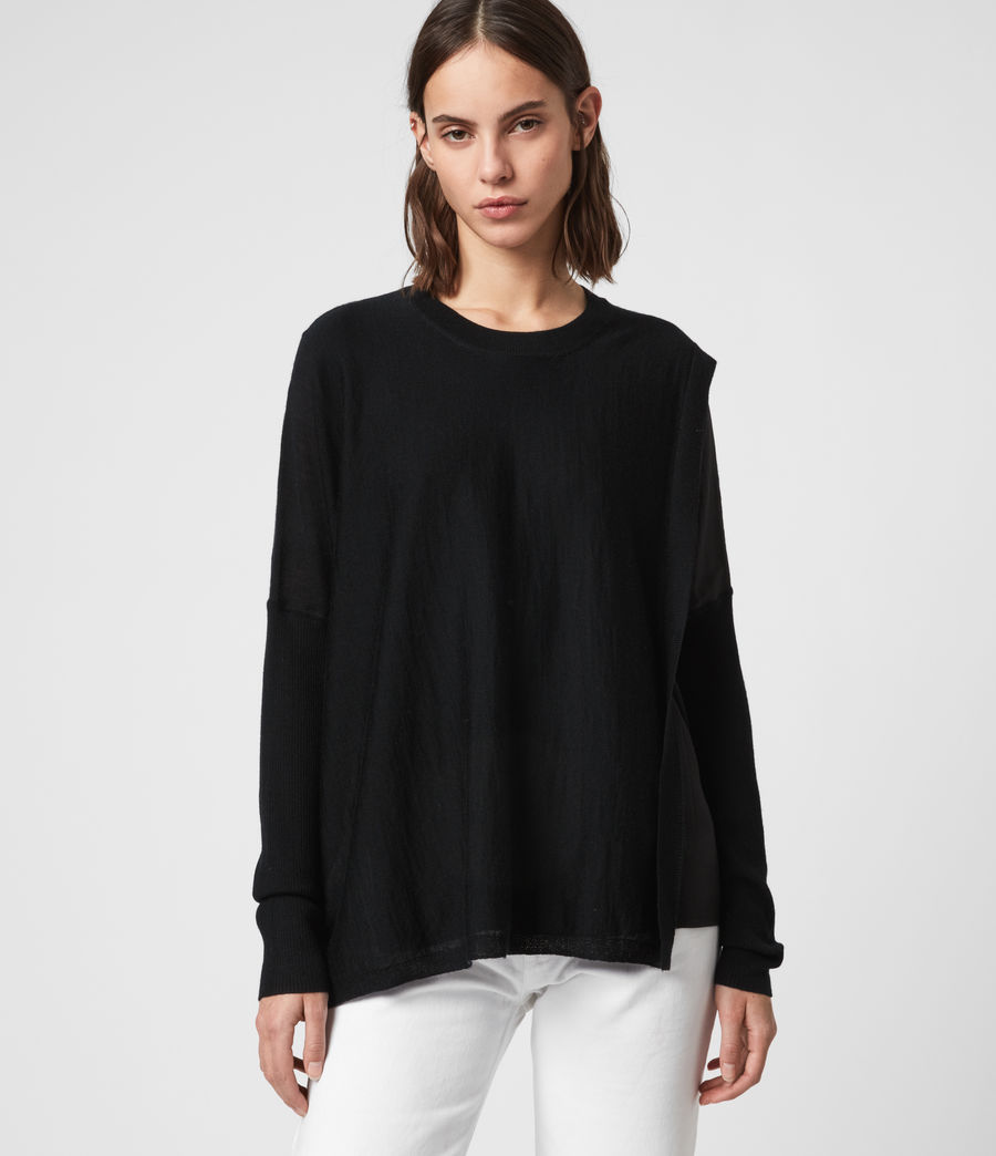 Women's Koko Wrap Crew Neck Jumper (chalk_white) - Image 1