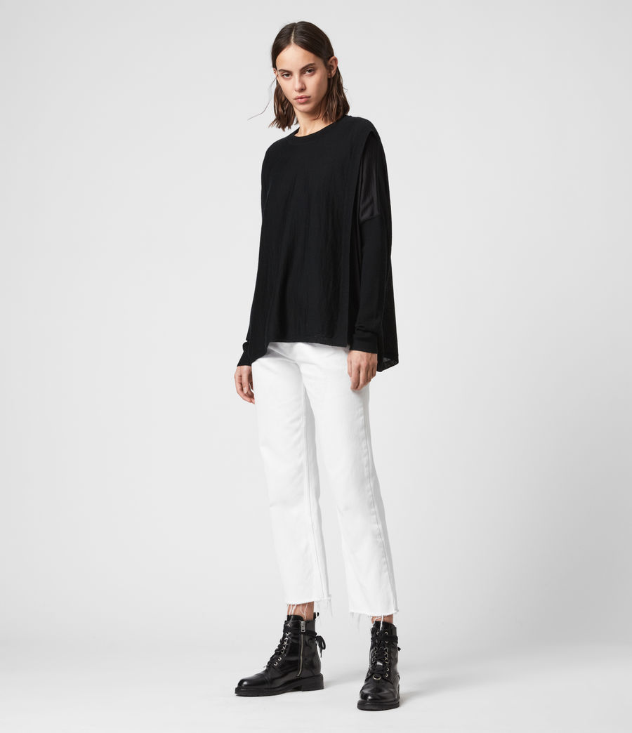 Women's Koko Wrap Crew Neck Jumper (chalk_white) - Image 3