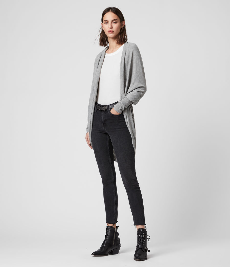 Womens Itat Shrug Cardigan (grey_marl) - Image 4