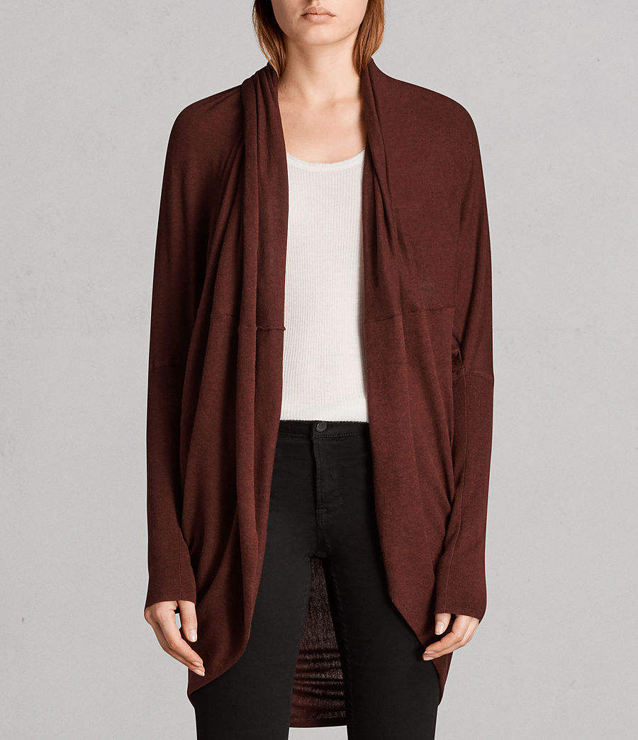 Women's Itat Shrug Cardigan (burgundy_red) - Image 1