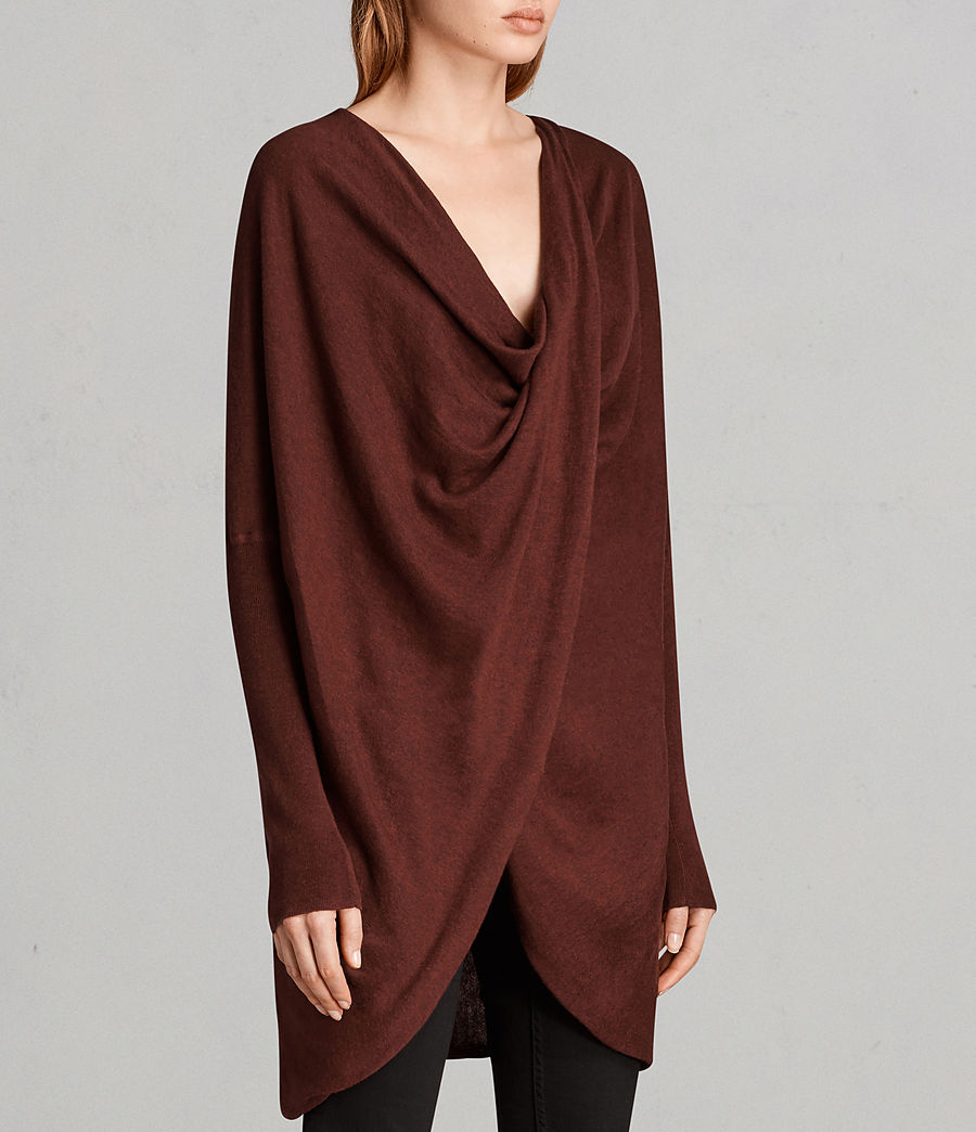 Women's Itat Shrug Cardigan (burgundy_red) - Image 2
