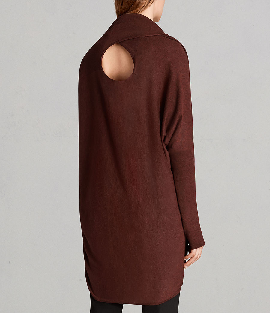 Women's Itat Shrug Cardigan (burgundy_red) - Image 5