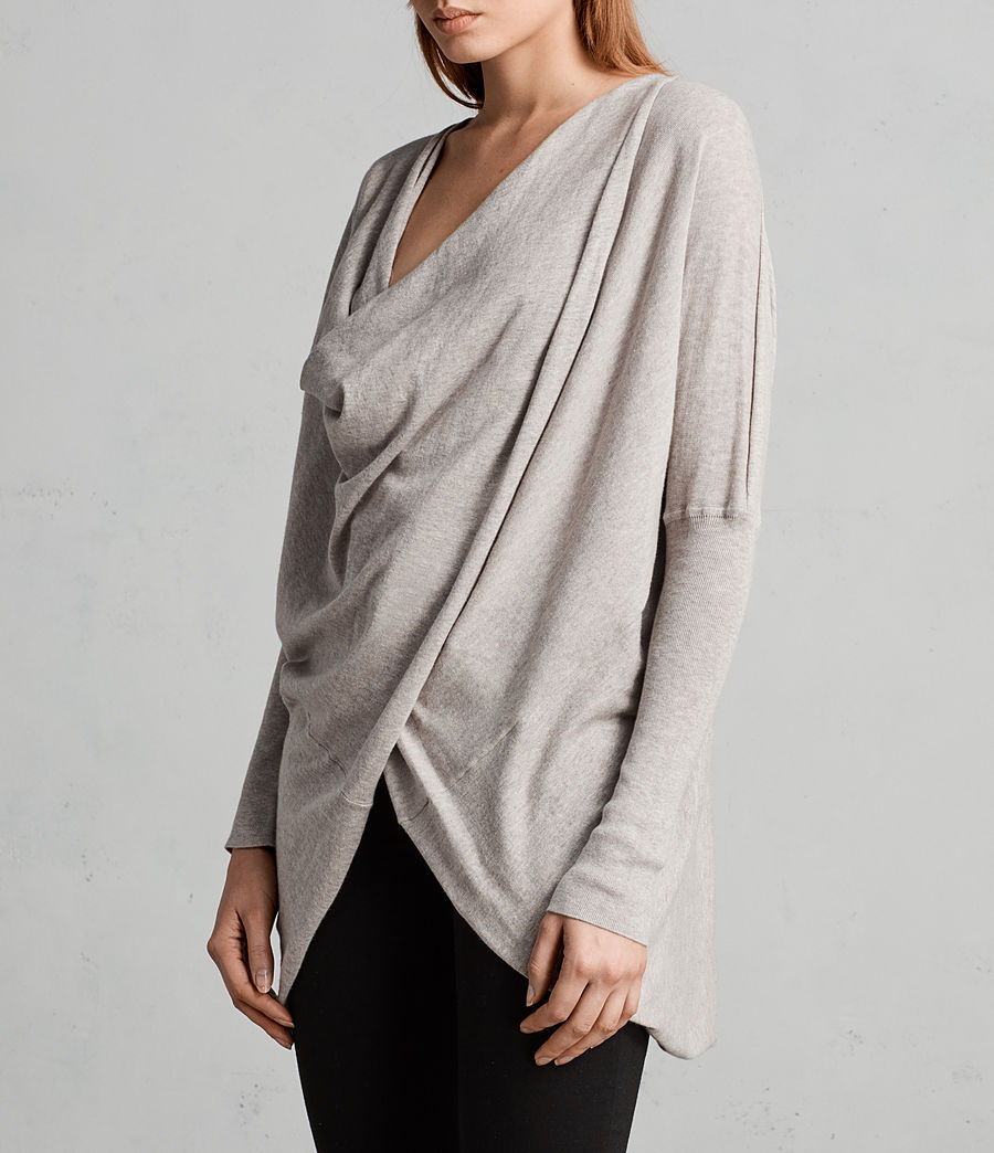 Womens Itat Shrug Cardigan (oatmeal_brown) - Image 2