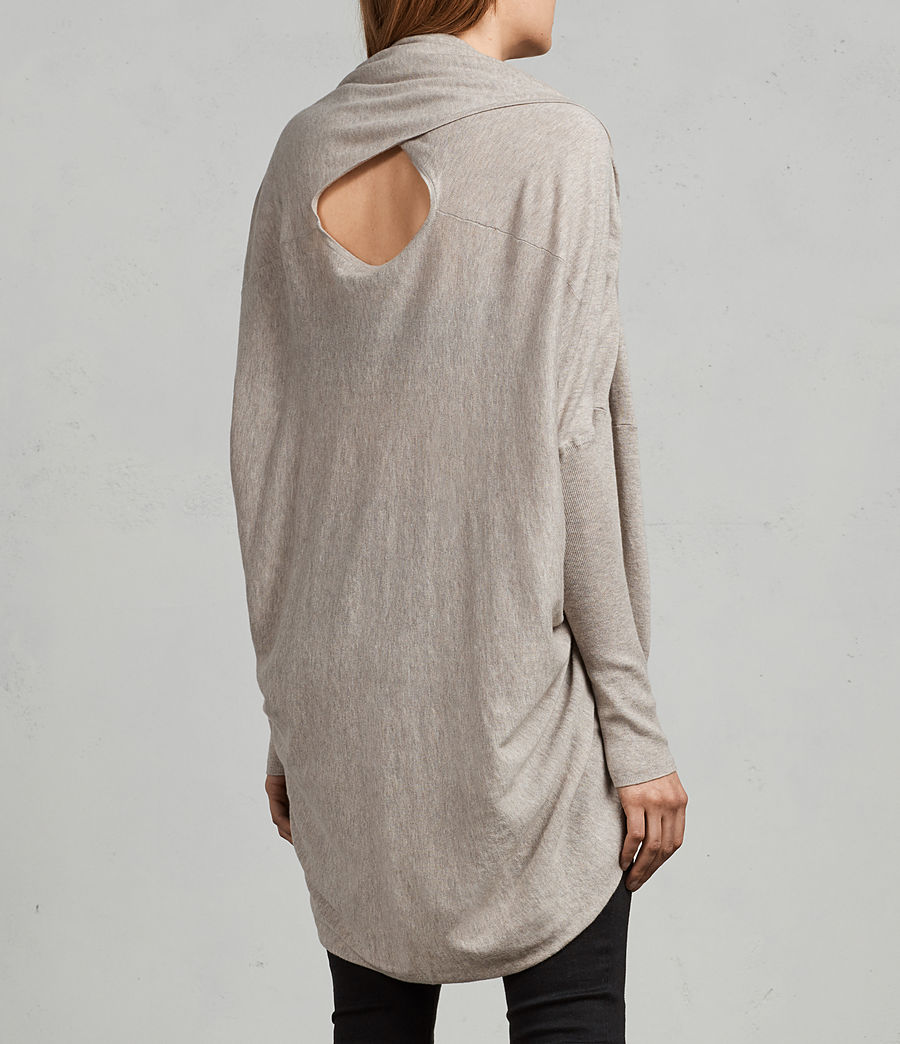 Womens Itat Shrug Cardigan (oatmeal_brown) - Image 3