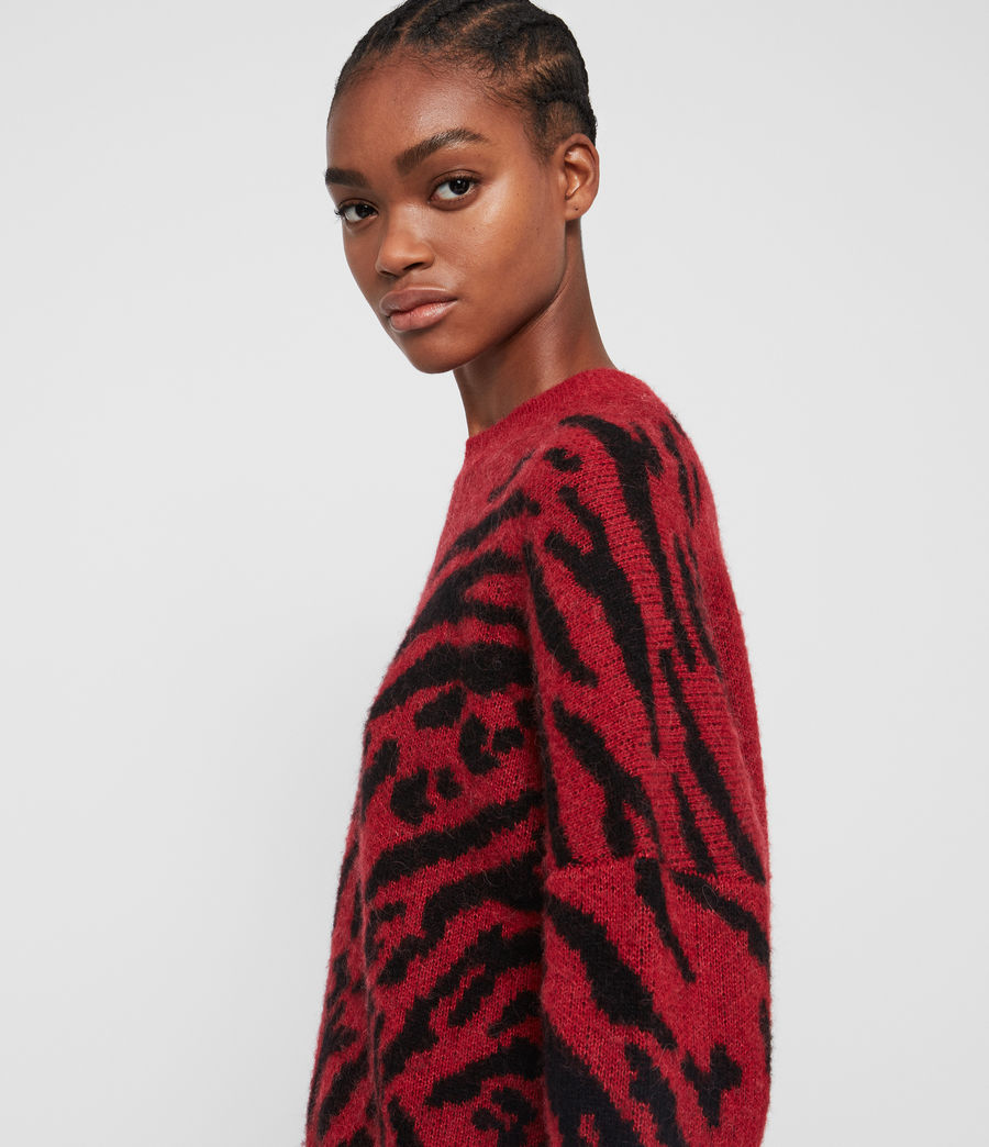 Womens Karina Sweater (red_black) - Image 2