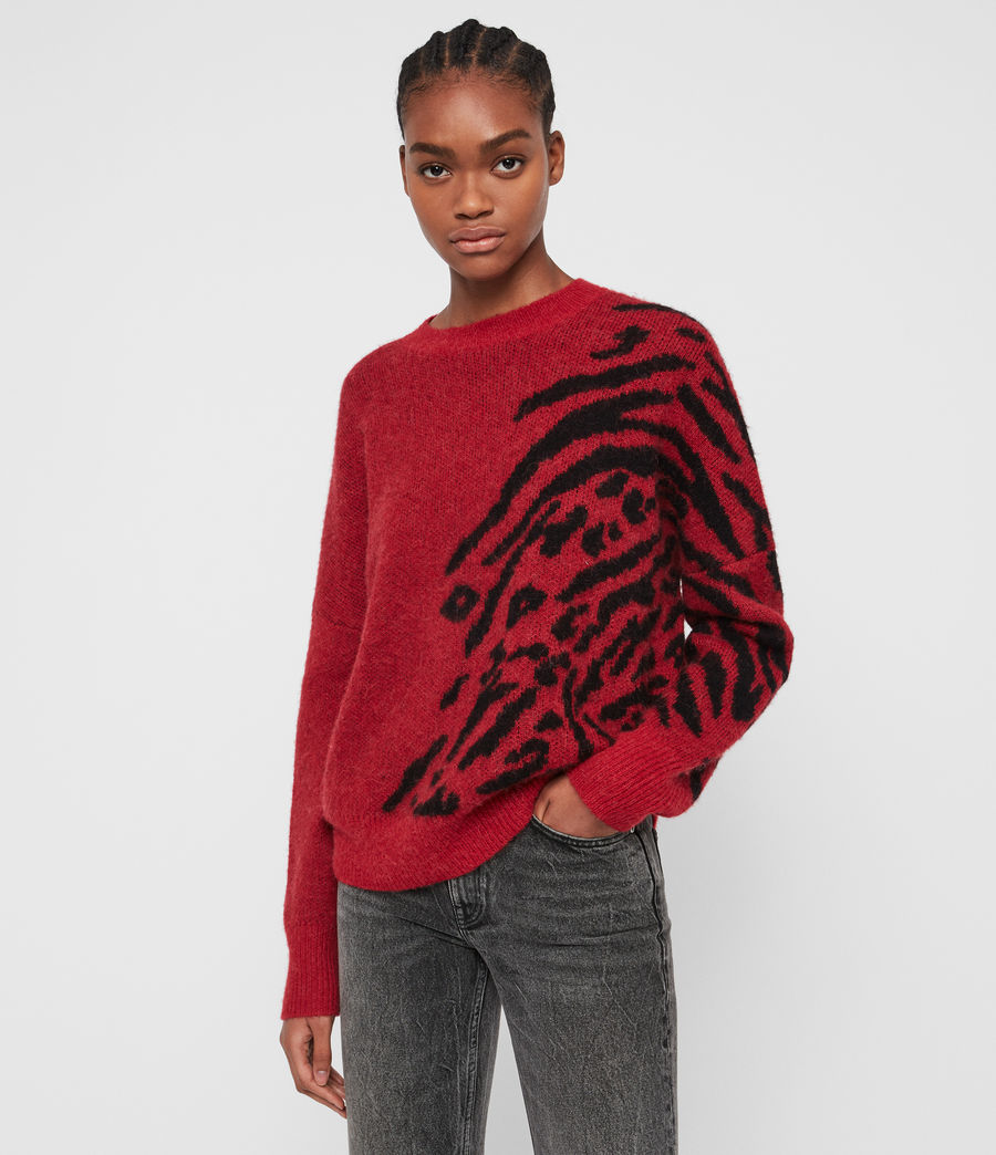 Women's Karina Jumper (red_black) - Image 4